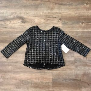 NWT Pippa & Julie Sparkly Houndstooth Sweater